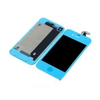 BLUE iPhone 4 LCD Digitizer Screen Assembly+Home Button