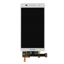 Hwa Wei Ascend P6 White LCD Panel Touch Glass Digitizer with Back Frame Assembly