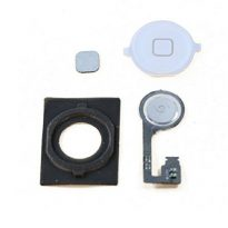 NEW White Apple iPhone 4S Home Button With Rubber Gasket with Flex Cable