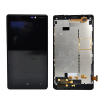 Nokia Lumia 820 LCD Display Touch Digitizer Screen Assembly + Back Frame