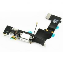 WHITE iphone 5 dock charger port Audio jack flex cable assembly