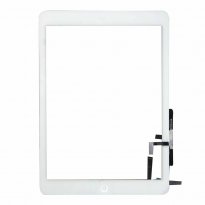 White iPad Air 5th Gen Touch Glass Digitizer Screen with Home Button Replacement