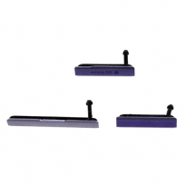 sony z1 charge port cover set purple