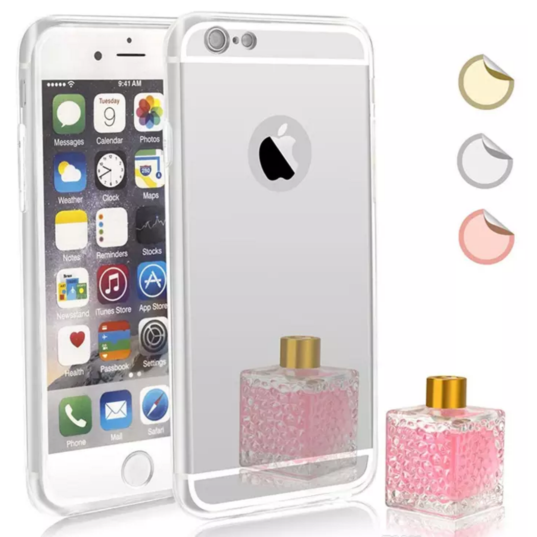 iphone 6 mirror soft case silver canadian cell parts. Black Bedroom Furniture Sets. Home Design Ideas