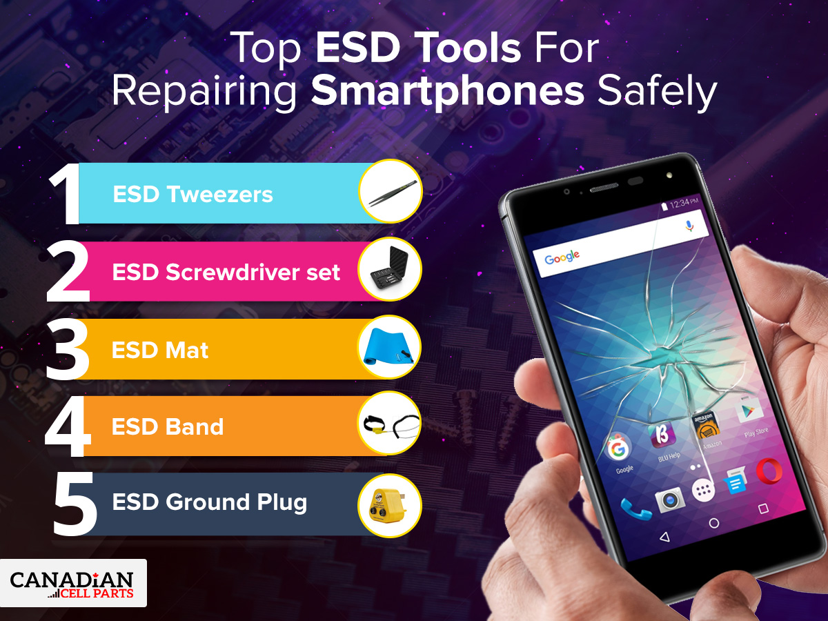 Top ESD Tools For Repairing Smartphones Safely