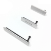 Sony Xperia Z1 L39h USB Charging / Sim / Micro SD Card Port Cover Set - Silver