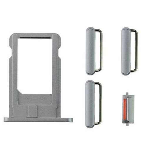 iPhone 6 Sim Tray with Button Set – Grey