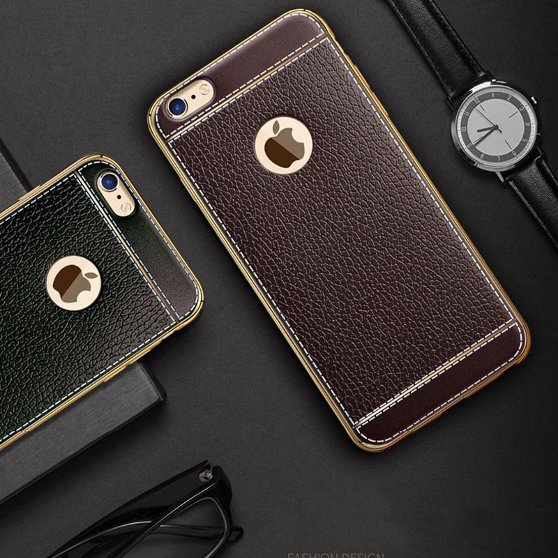 hot sale online ac512 e2f9a iPhone 6S Plus Leather Case - Black