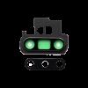 Samsung Note 10 Plus Back Camera Glass Lens With Bezel < Black >